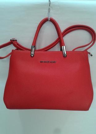 Женская  стильная сумочка красного цвета