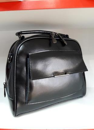 Ультрамодная сумочка - чемоданчик из натуральной кожи