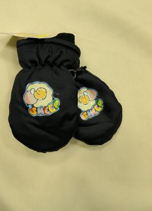 Варежки дитячі теплі на флісі