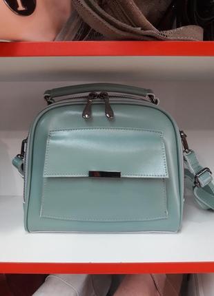 Стильная женская сумочка- чемоданчик  из натуральной кожи