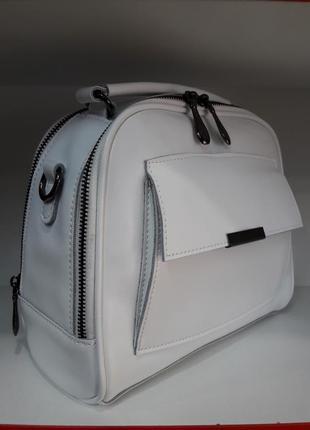 Модная женская сумочка-чемоданчик из натуральной кожи