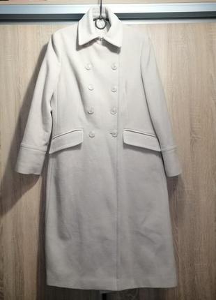 Кашемировое длинное пальто тренд