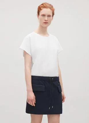 Юбка COS юбочка набедренная оверсайз короткая мини-юбка