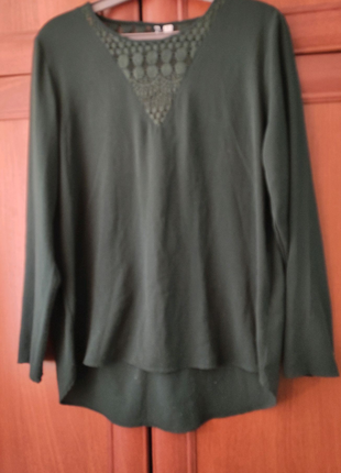 Блузка зеленого кольору