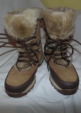 Ботинки зимние сапоги мембрана hi-tec оригинал замша новые