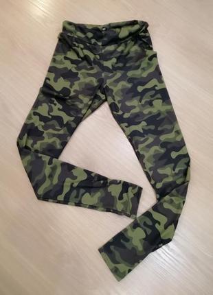 Спортивные лосины military green