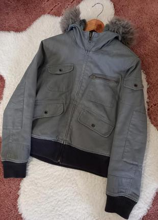 Куртка only на меху с капюшоном