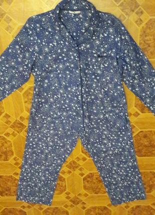 Байковый костюм для сна и отдыха 54-56 ( 18)