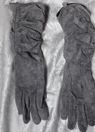 Перчатки натуральная замш размер 7-7,5 ( м)