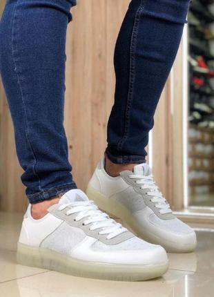 Мужская обувь кроссовки форс гель белые