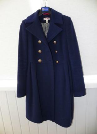 Пальто женское K&E синее демисезонное (размер 40)