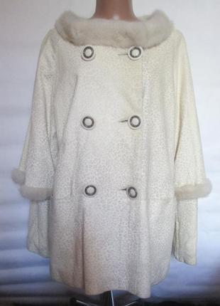 Куртка,курточка , натуральная кожа,мех норка,норковая, 48-52 р...
