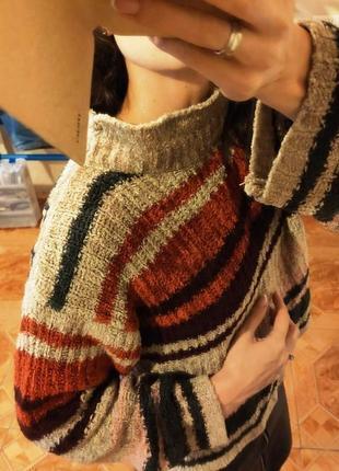 Плюшевый велюровый укороченный свитер плюшевая кофта джемпер в...