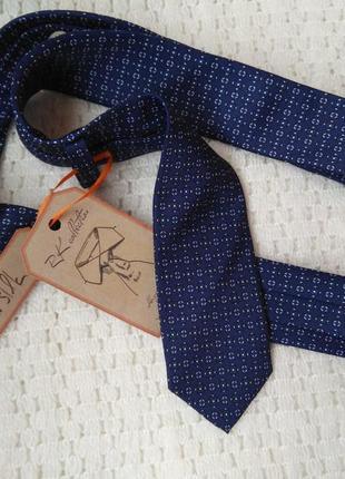 Фирменный узкий галстук краватка 100% шелк оригинальный подаро...