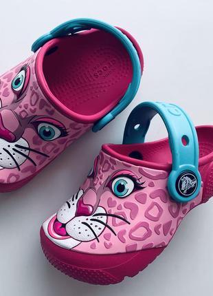 Мега красивые💖 💖 сабо crocs с розовым леопардом ☀️😎размер с 7 ...