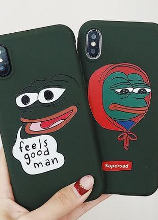 Чехол Лягушонок Пепе на iPhone X/Xs
