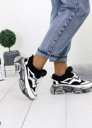 Зимние кроссовки в стиле баленисиага,тёплые зимние кроссовки н...