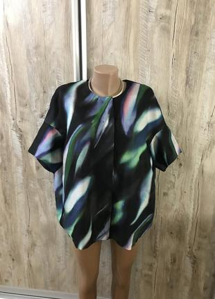 Cos шелковая блуза блузка шёлк натуральный шелковый пиджак летний