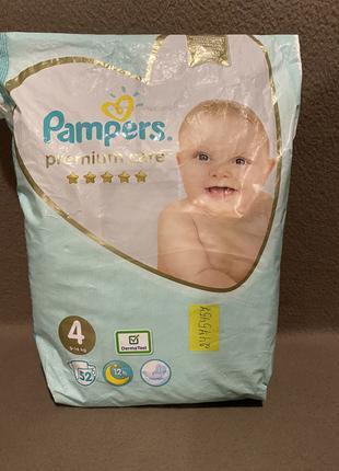 Pampers premium care 4 памперс