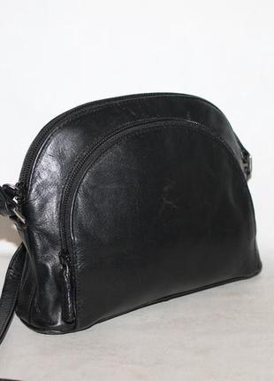 Милая,кожаная сумка кросбоди от debenhams 100% натуральная кожа