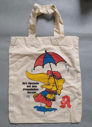 Эко-сумочка из плотной хлопковой ткани.