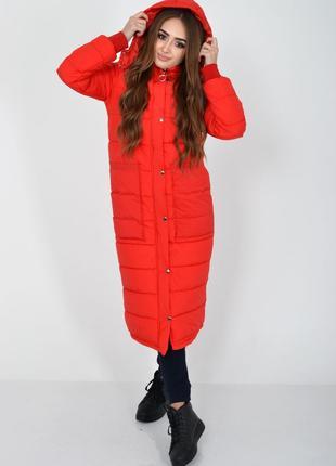 Пальто женское цвет красный