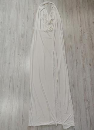 Ликвидация товара 🔥   белое макси платье с открытой спиной и р...