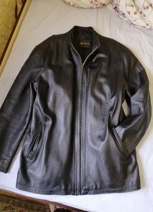 Кожаная мужская куртка большого размера