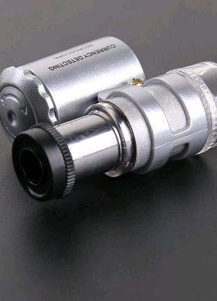 Микроскоп карманный 60х крат с подсветкой