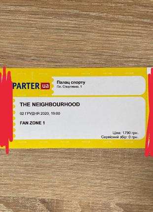 The Neighborhood билет на концерт 2021