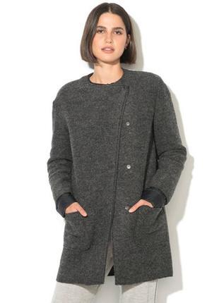 Женское шерстяное пальто benetton,италия