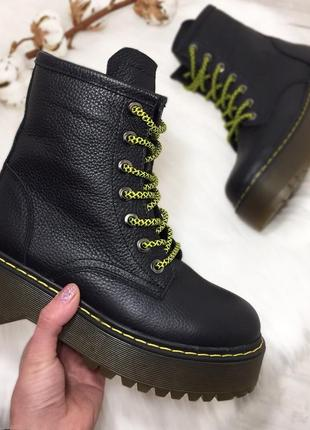 Хит-2019! зимние кожаные ботинки берцы мартинсы. 36-40