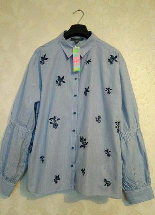 Актуальная принтовая рубашка блуза полоска цветы бренда primar...