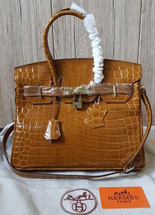 Кожаная сумка в стиле hermes гермес биркин