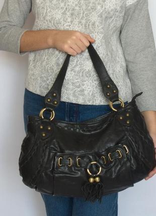 Шикарная большая сумка lancaster, франция, натуральная кожа.