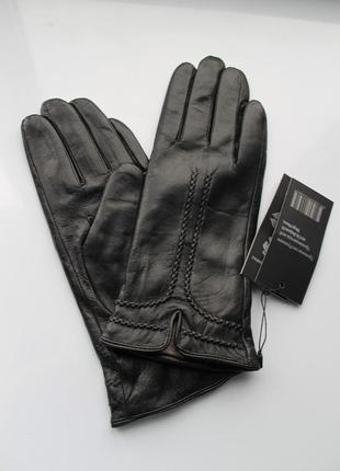 Женские кожаные перчатки черные румыния