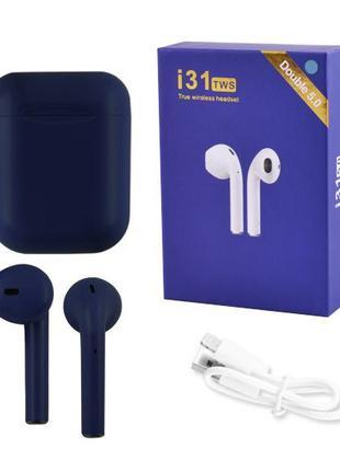 Беспроводные Bluetooth наушники TWS i31-5.0. Цвет: темно-синий