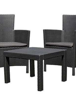 Комплект мебели Allibert Rosario balcony set graphite