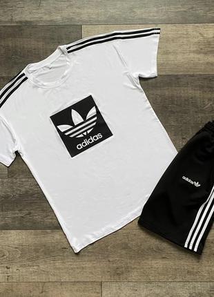 Чоловічий літній комплект футболка + шорти adidas sprint