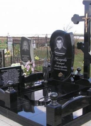 Установка гранитных памятников на могилу. Низкие цены!