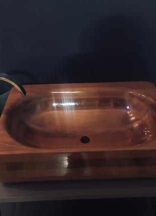 Дизайнерские ванны и раковины из дерева под заказ.