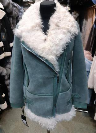 Пальто мех из овечьей шерсти