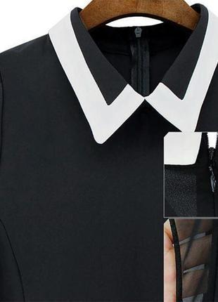 Оригинальная блуза с белым воротником