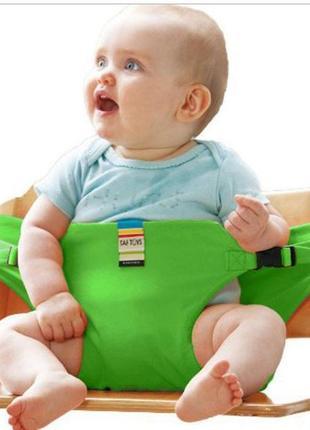 Текстильный ремень безопасности для ребенка на стул taf toys
