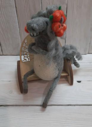 Игрушки из шерсти валяные ручная работа Подарок 8марта хенд мейд