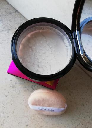 Рассыпчатая пудра bioaqua silky soft honey powder, тон іvory, ...