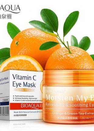 Патчи тканевые с экстрактом апельсина и зеленого чая bioaqua v...