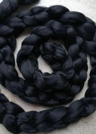 Шарф крупной вязки, вязаный шарф, черный