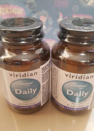 Viridian daily. Виридиан.Пробиотик. 30 капсул