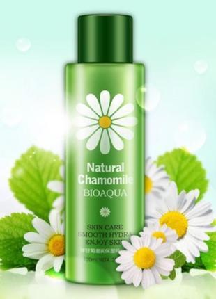 Тонер для лица с ромашкой bioaqua natural chamomile, 120 мл